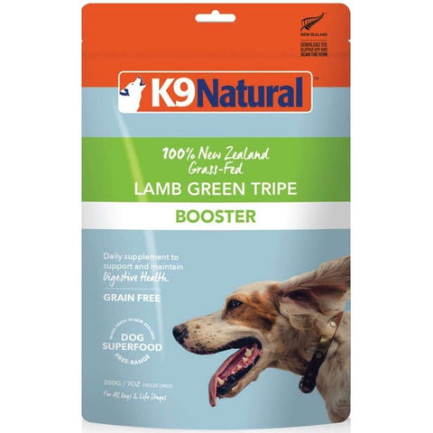 K9 Natural Freeze Dried Lamb Green Tripe Booster Dog Food 200g - Kohepets