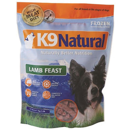 K9 Natural Raw Frozen Lamb Feast Dog Food 1kg