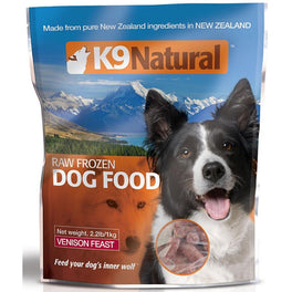 K9 Natural Raw Frozen Venison Feast Dog Food 1kg