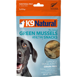 K9 Natural Freeze Dried Ocean-Farmed GREEN Mussel Bites Dog Treats 50g