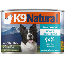 K9 Natural Hoki & Beef Feast Grain-Free Canned Dog Food 170g