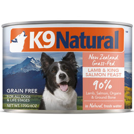 K9 Natural Lamb & King Salmon Feast Grain-Free Canned Dog Food 170g