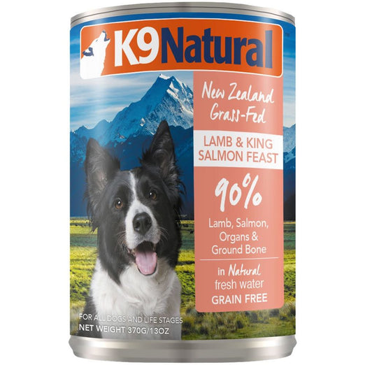 K9 Natural Lamb & King Salmon Feast Grain-Free Canned Dog Food 370g - Kohepets