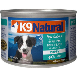 K9 Natural Puppy Beef & Hoki Grain-Free Canned Dog Food 170g