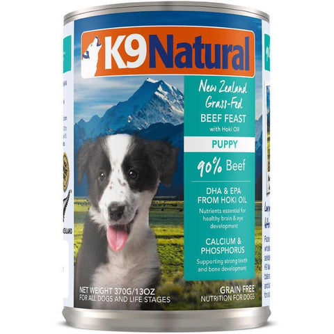 '27% OFF: K9 Natural Puppy Beef Feast Canned Dog Food 370g - Kohepets