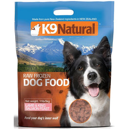 K9 Natural Raw Frozen Endurance Lamb & King Salmon Feast Dog Food 5kg