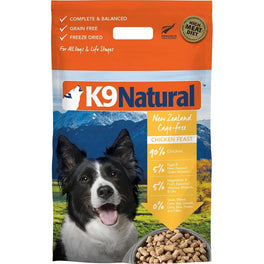 'FREE TREATS': K9 Natural Freeze Dried Chicken Feast Raw Dog Food