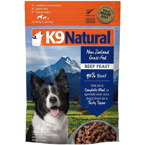 'FREE BIN': K9 Natural Freeze Dried Beef Feast Raw Dog Food - Kohepets