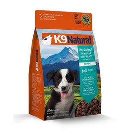 'FREE BOWL': K9 Natural Puppy Beef & Hoki Freeze Dried Dog Food 3.5lb