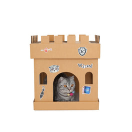 Kafbo Castle Cat Cube With The Wizard Sticker (The Silver Cat)