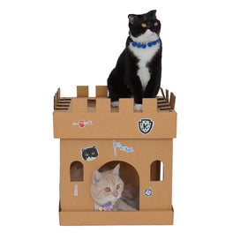 Kafbo Castle Cat Cube With The Knight Sticker (The Tuxedo Cat)