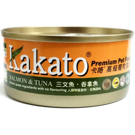'5% OFF 170g (Exp Mar 20)':Kakato Salmon & Tuna Canned Cat & Dog Food