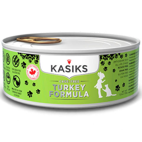 Kasiks Cage-Free Turkey Grain Free Canned Cat Food 156g