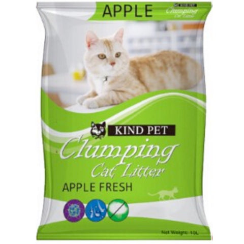 Kind Pet Clumping Fine Cat Litter 10L - Apple - Kohepets
