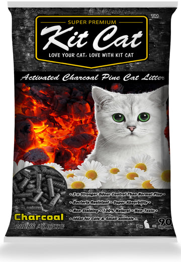 Kit Cat Activated Charcoal Pine Cat Litter 20lb - Kohepets
