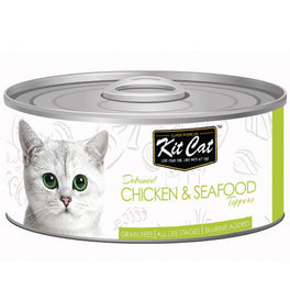 Kit Cat Deboned Chicken & Seafood Toppers Canned Cat Food 80g