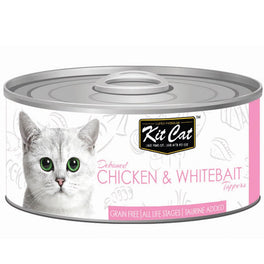 Kit Cat Deboned Chicken & Whitebait Toppers Canned Cat Food 80g