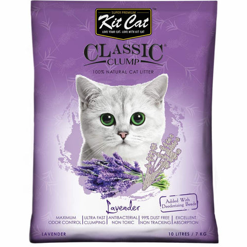 Kit Cat Classic Clump Lavender Clay Cat Litter 10L - Kohepets