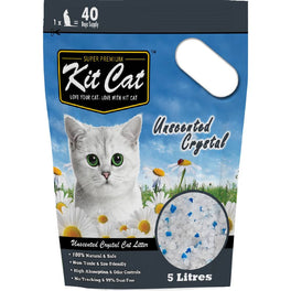 Kit Cat Crystal Litter, Unscented Cat Litter 5L