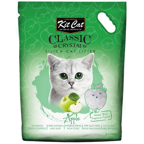 Kit Cat Classic Crystal Apple Silica Cat Litter 5L - Kohepets