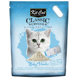 Kit Cat Classic Crystal Baby Powder Silica Cat Litter 5L