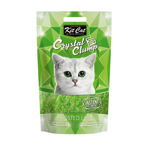Kit Cat Crystal Clump Frosted Lime Cat Litter 4L - Kohepets