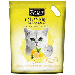 Kit Cat Classic Crystal Lemon Silica Cat Litter 5L