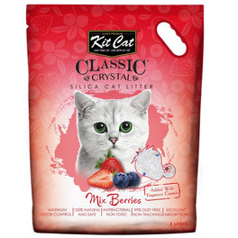 Kit Cat Classic Crystal Mix Berries Silica Cat Litter 5L