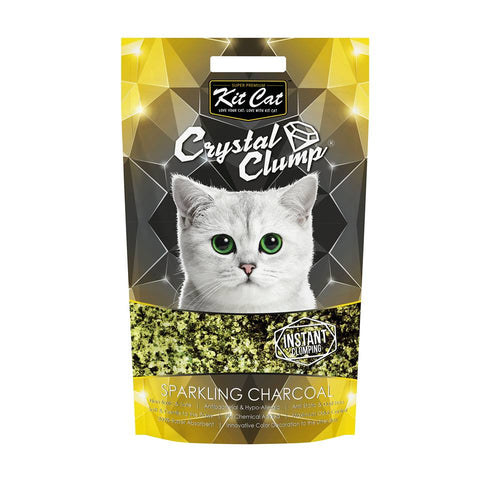 Kit Cat Crystal Clump Sparkling Charcoal Cat Litter 4L - Kohepets
