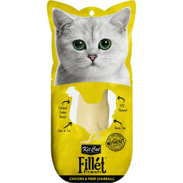 Kit Cat Fillet Fresh Chicken & Fiber (Hairball) Cat Treat 30g