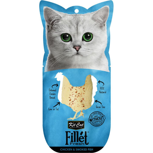 Kit Cat Fillet Fresh Chicken & Smoked Fish Cat Treat 30g - Kohepets