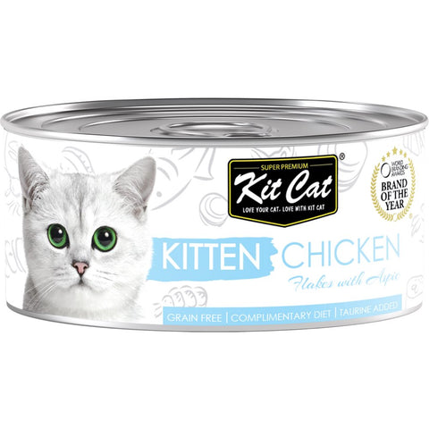 Kit Cat Kitten Chicken Flakes With Aspic Canned Cat Food 80g - Kohepets