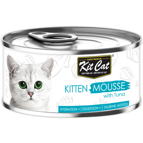 Kit Cat Kitten Mousse Tuna Canned Cat Food 80g