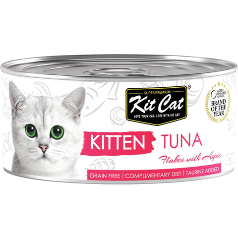Kit Cat Kitten Tuna Flakes With Aspic Canned Cat Food 80g - Kohepets
