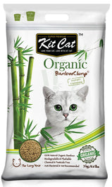 Kit Cat Organic BambooClump Cat Litter for Long Hair Cats