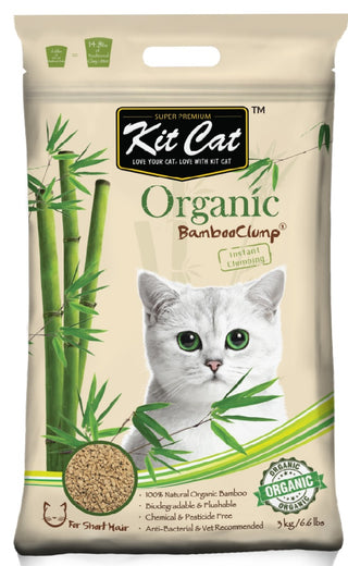 Kit Cat Organic BambooClump Cat Litter for Short Hair Cats - Kohepets