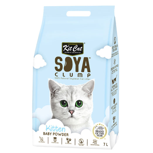 Kit Cat Soya Clump Kitten Baby Powder Cat Litter 7L - Kohepets