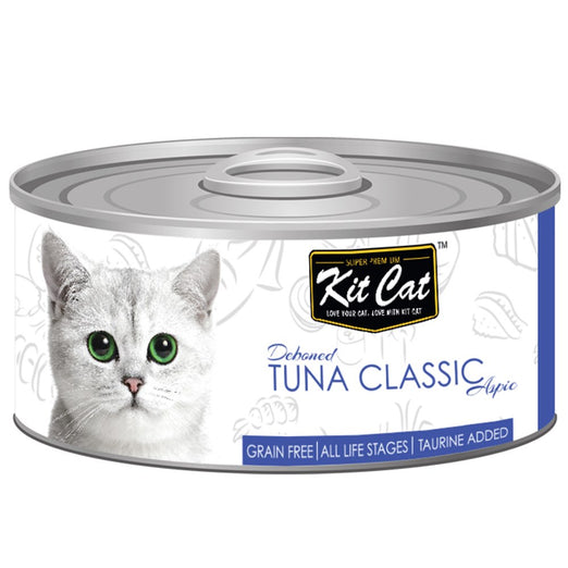 Kit Cat Deboned Tuna Classic Aspic Canned Cat Food 80g - Kohepets