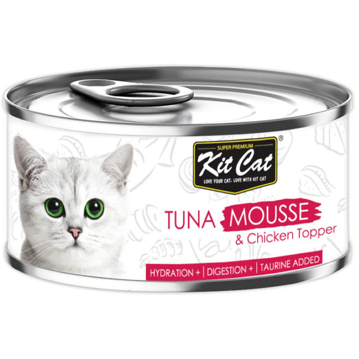 Kit Cat Tuna Mousse & Chicken Topper Canned Cat Food 80g