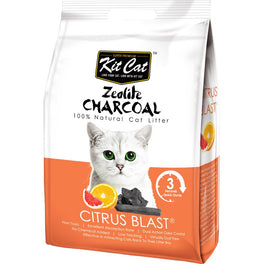 Kit Cat Zeolite Charcoal Citrus Blast Cat Litter 4kg