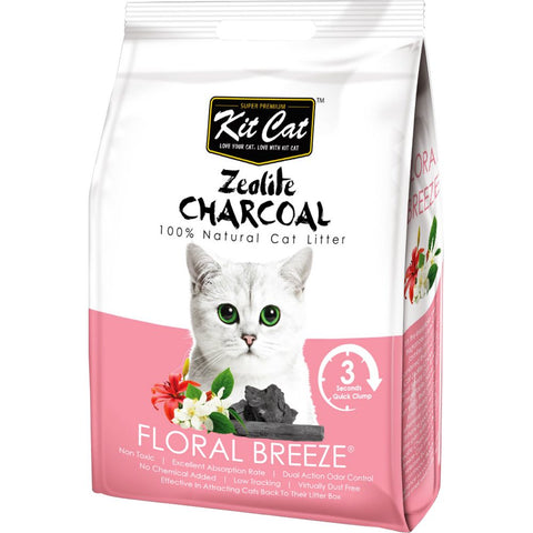 Kit Cat Zeolite Charcoal Floral Breeze Cat Litter 4kg - Kohepets
