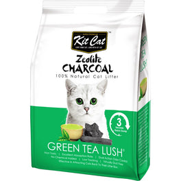 Kit Cat Zeolite Charcoal Green Tea Lush Cat Litter 4kg