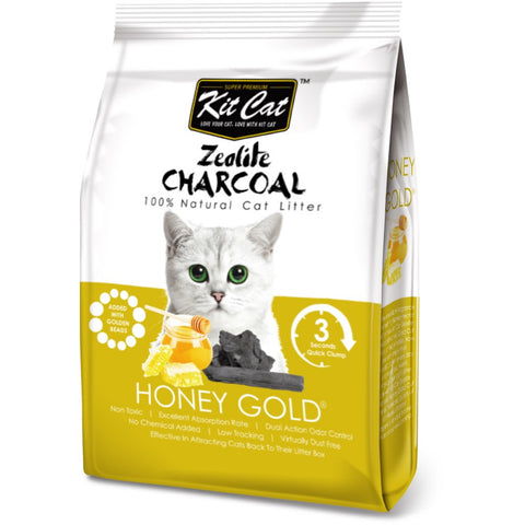 Kit Cat Zeolite Charcoal Honey Gold Cat Litter 4kg - Kohepets
