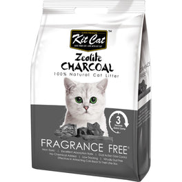 Kit Cat Zeolite Charcoal Fragrance Free Cat Litter 4kg