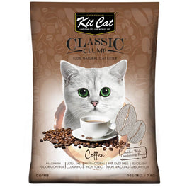 Kit Cat Classic Clump Coffee Clay Cat Litter 10L