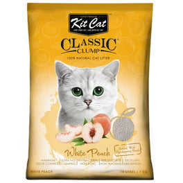 Kit Cat Classic Clump White Peach Clay Cat Litter 10L