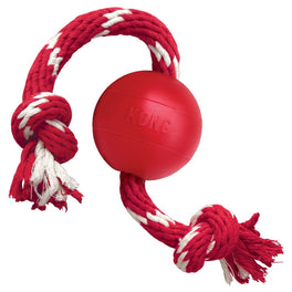 KONG Classic Ball with Rope Dog Toy