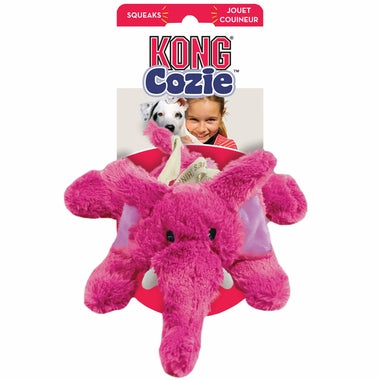 Kong Cozie Elmer The Pink Elephant Small Dog Toy