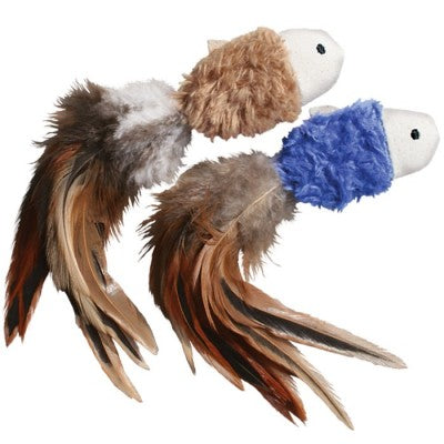 Kong Crinkle Fish With Feathers Cat Toy - Kohepets