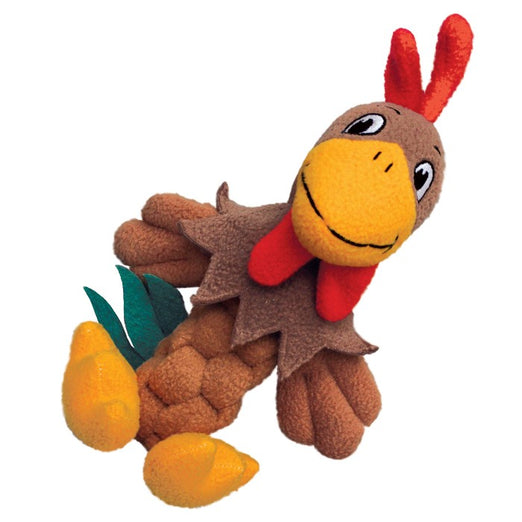 KONG Pudge Braidz Rooster Dog Toy - Kohepets